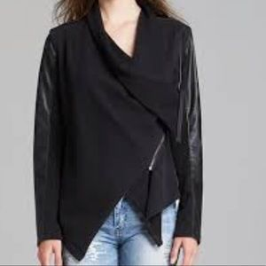 Blank NYC Private Practice Moto Jacket Faux Leathe